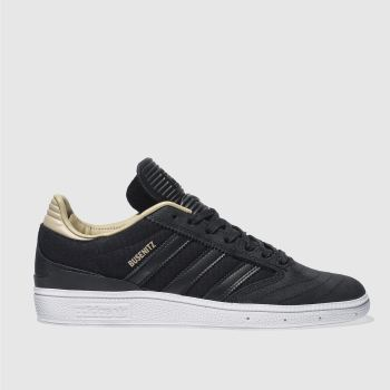 huge selection of 49829 ddf1a ADIDAS BLACK BUSENITZ TRAINERS