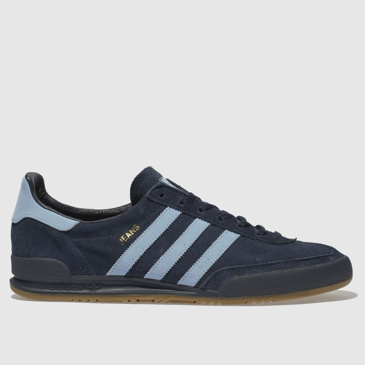 Adidas Navy & Pl Blue Jeans Trainers | UK 10 | Male