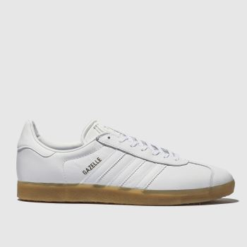 Adidas White Gazelle c2namevalue::Mens Trainers