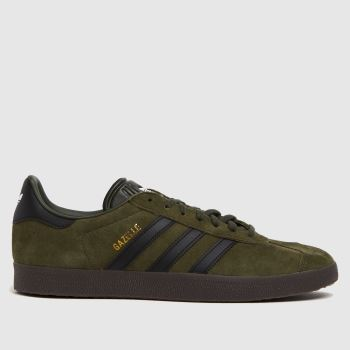 Adidas Khaki Gazelle c2namevalue::Mens Trainers