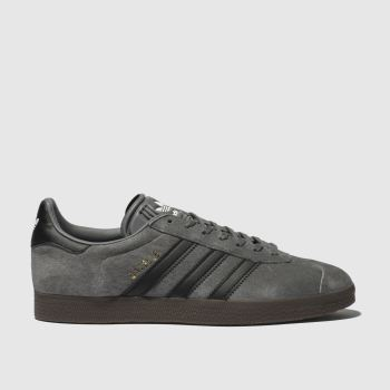 Adidas Dark Grey Gazelle Mens Trainers 036ada149