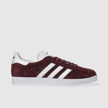 Adidas Burgundy Gazelle Mens Trainers