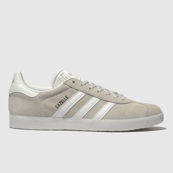 new arrival a6bef c8982 Adidas Light Grey Gazelle Mens Trainers