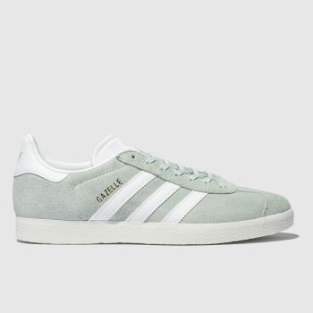 Adidas Light Green Gazelle Mens Trainers