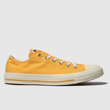 Converse Orange All Star Washed Ox Mens Trainers