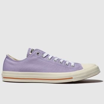 converse lilac all star washed ox trainers