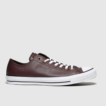 Converse Dark Brown All Star Leather Ox Mens Trainers