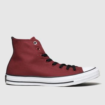 Converse Burgundy All Star Space Explorer Hi Mens Trainers