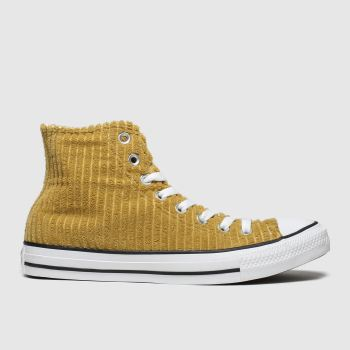Converse Tan All Star Wide Wale Cord Hi Mens Trainers