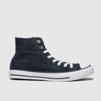 Converse Navy All Star Wide Wale Cord Hi Mens Trainers