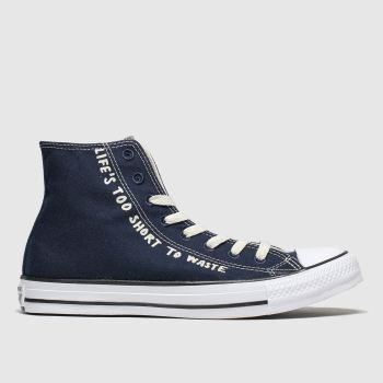 Converse Navy & White All Star Renew Hi Mens Trainers