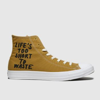 Converse Tan Chuck Taylor All Star Renew Hi Mens Trainers