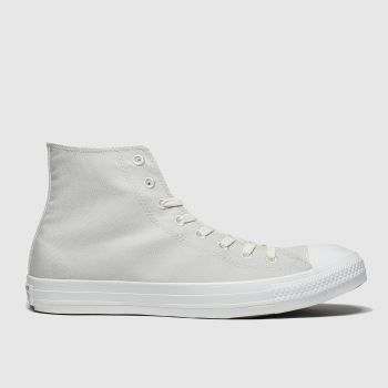 Converse Light Grey Chuck Taylor All Star Renew Hi Mens Trainers