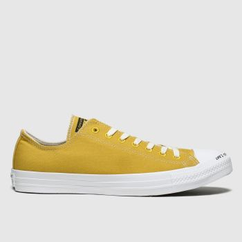 Converse Yellow Chuck Taylor All Star Renew Ox Mens Trainers