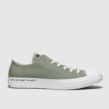 Converse Khaki Chuck Taylor All Star Renew Ox Mens Trainers