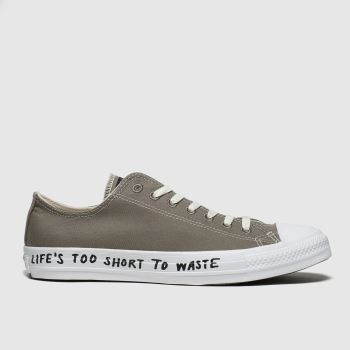 Converse Grey Chuck Taylor All Star Renew Ox Mens Trainers