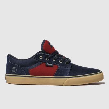 Etnies Navy & Red Barge Ls Mens Trainers