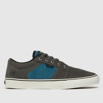 Etnies Grey Barge Ls c2namevalue::Mens Trainers
