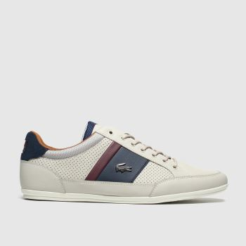 Lacoste Stone & Navy Chaymon Mens Trainers