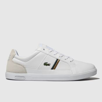 Lacoste White & Green Europa Mens Trainers