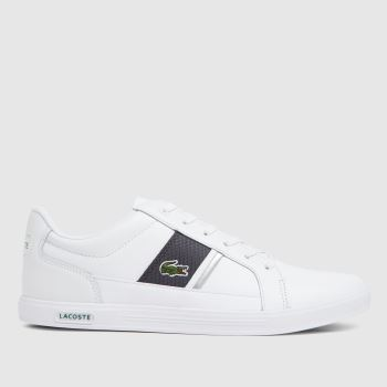 Lacoste White & grey Europa Mens Trainers