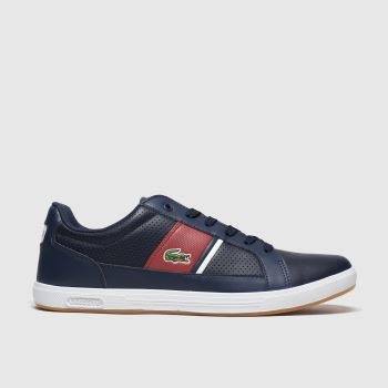 Lacoste Navy & Red Europa Mens Trainers