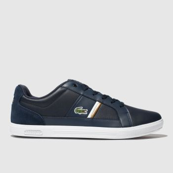 Lacoste Navy & White EUROPA Trainers