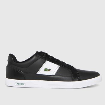 Lacoste Black & White Europa Mens Trainers