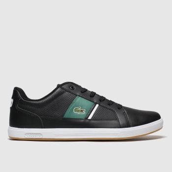 Lacoste Black & Green Europa c2namevalue::Mens Trainers