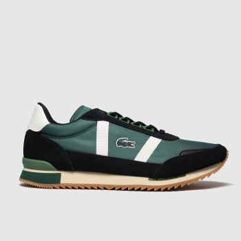 Lacoste Green & Stone Partner Retro Mens Trainers