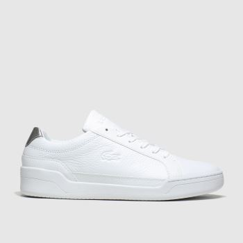 Lacoste White & Silver Challenge c2namevalue::Mens Trainers