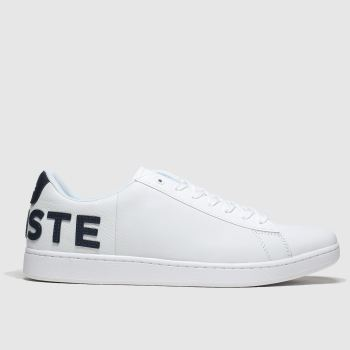 Lacoste White & Navy Carnaby Evo Mens Trainers