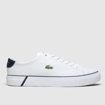 Lacoste White & Navy Gripshot c2namevalue::Mens Trainers