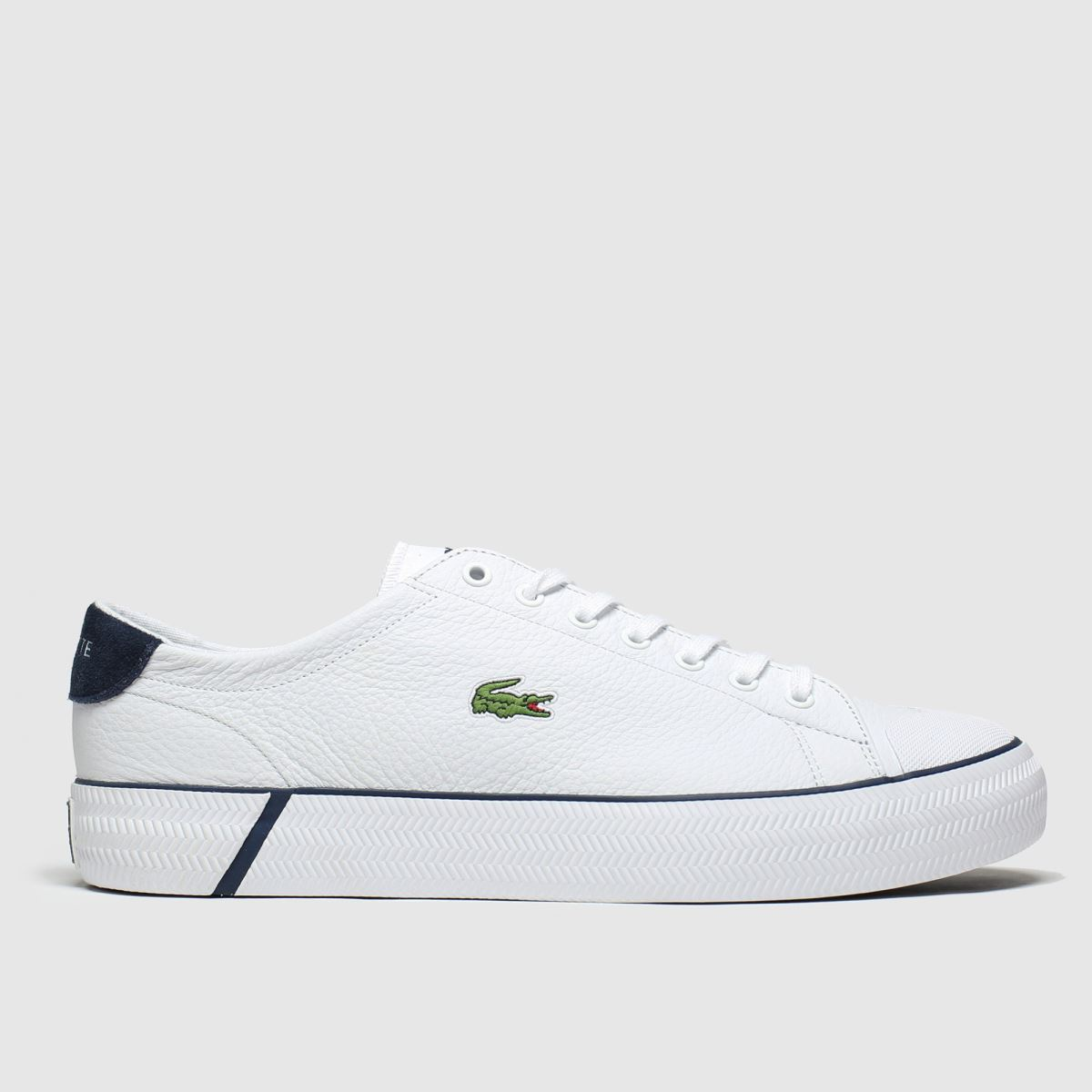 Lacoste White & Navy Gripshot Trainers