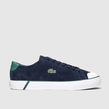 Lacoste Navy & Green Gripshot c2namevalue::Mens Trainers
