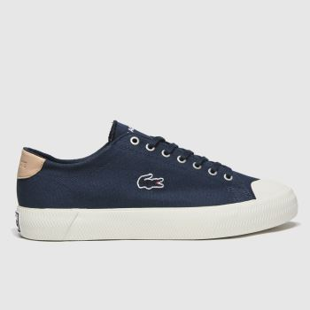 Lacoste Navy & White Gripshot Mens Trainers