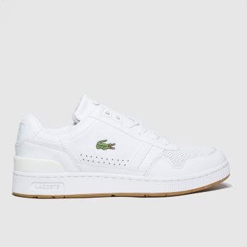 Lacoste White T-clip Mens Trainers