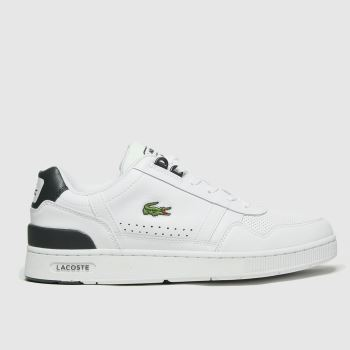 Lacoste White & Green T-clip Mens Trainers