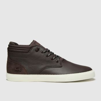 Lacoste Dark Brown Esparre Chukka Mens Trainers#