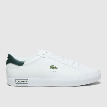 Lacoste White Powercourt Mens Trainers
