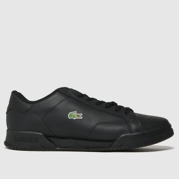Lacoste Black Twin Serve Mens Trainers