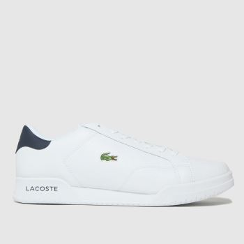 Lacoste white twin serve trainers