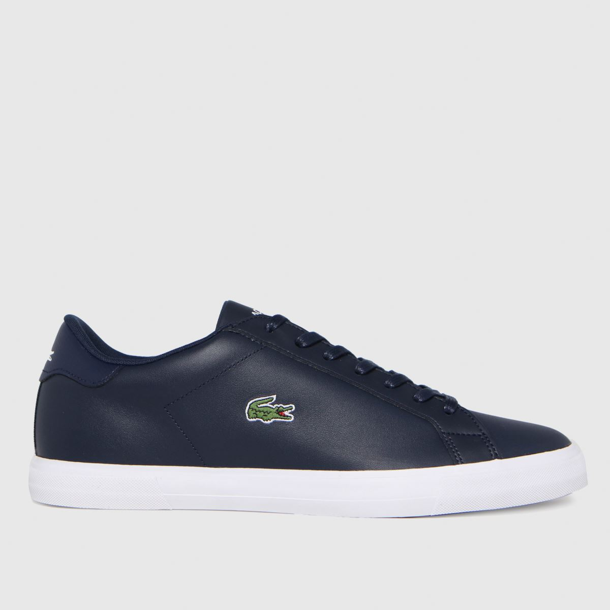 Click to view product details and reviews for Lacoste Navy White Lerond Plus Trainers.