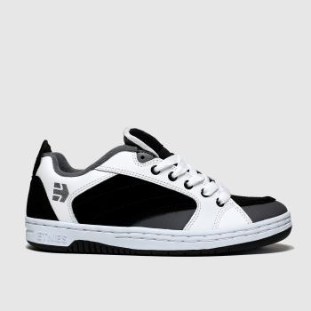 Etnies White & Black Czar Mens Trainers