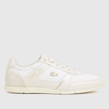 Lacoste White Menerva Mens Trainers