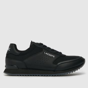 Lacoste Black Partner Luxe Mens Trainers