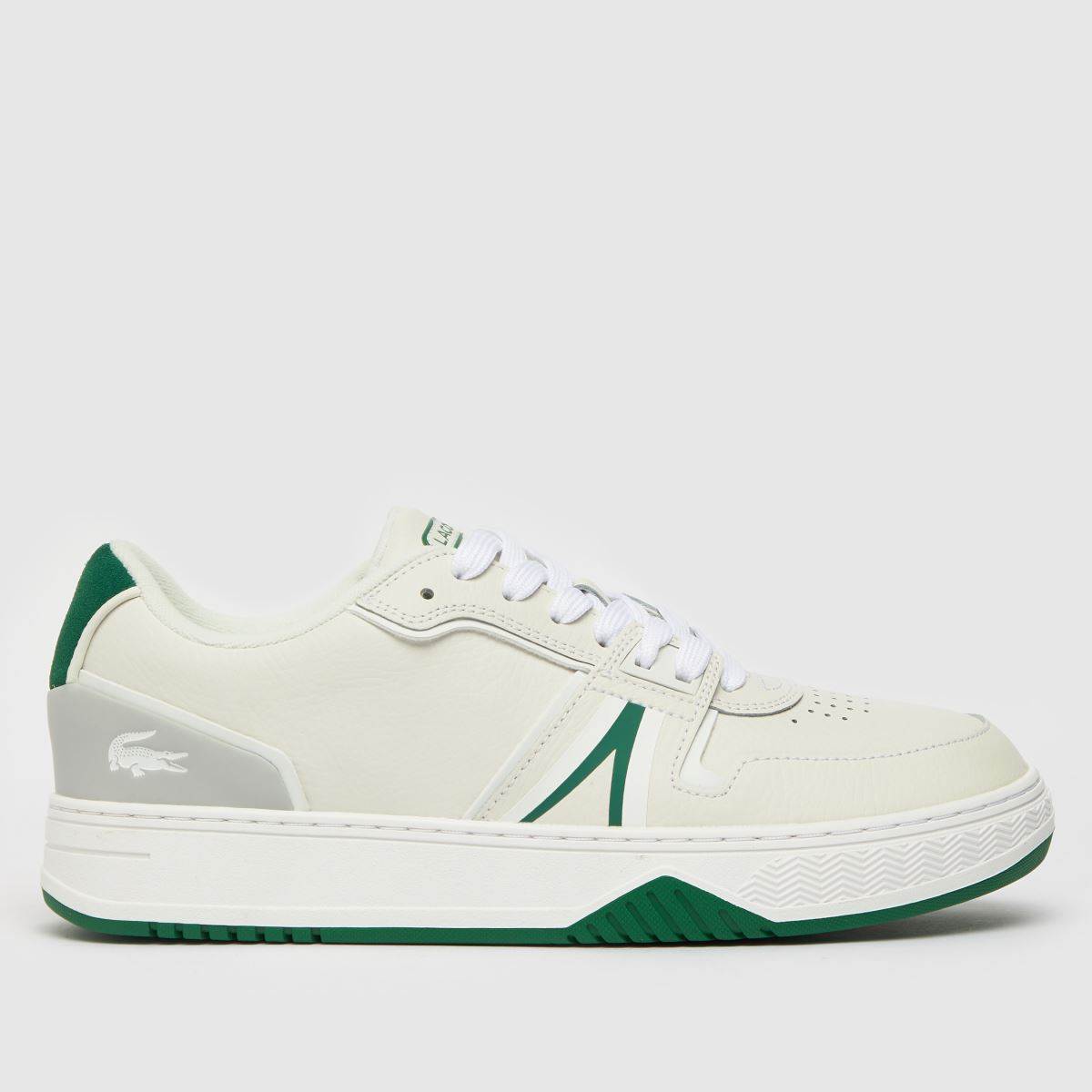 Lacoste White & Green L001 Trainers