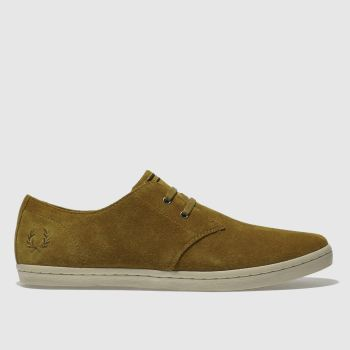 Fred Perry Tan Byron Low Mens Trainers