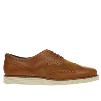 FRED PERRY TAN NEWBURGH BROGUE TRAINERS