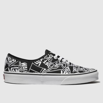 Vans Black & White Authentic Otw Mens Trainers